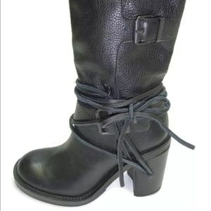 Vince Camuto Skylas Women Leather Black boots Sz 8